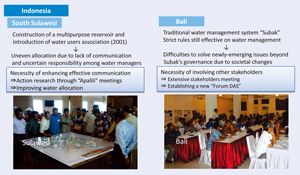 Figure 2 The results of stakeholders meetings in Indonesian study sites