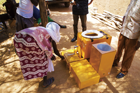 Socialization of composting type toilet in Burkina Faso. Photo by Dr. ITO Ryusei