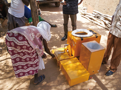 Socialization of composting type toilet in Burkina Faso, Photo by ITO Ryusei