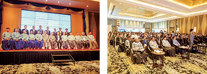 Photo 2 Attendees Union Minister of MONREC, officials, researchers and scientists, students, NGO and NPO members from Myanmar, Japan, Nepal, and ASEAN countries at TRPNEP2019 Nay Pyi Taw Seminar