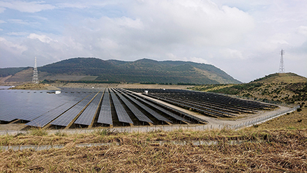 Solar power generation in Chiba Prefecture, Japan