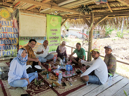 An activities of transdisciplinary community of practice in Hayahaya village of Gorontalo Province, Indonesia
